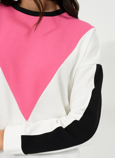 Blokajlı Sweatshirt-People By Fabrika